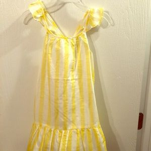 Yellow and white spring/summer dress
